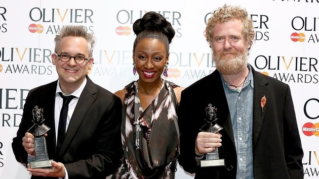 Hansard with award presenter Beverley Knight and Once collaborator Martin Lowe