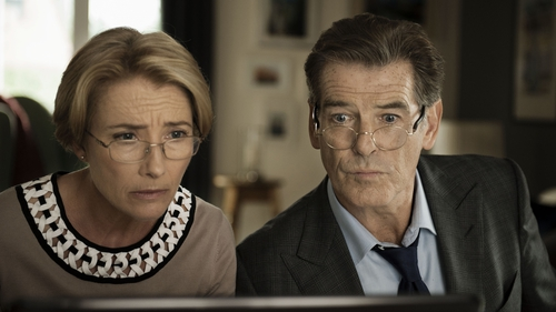 Emma Thompson and Pierce Brosnan play a divorced couple who become jewel thieves