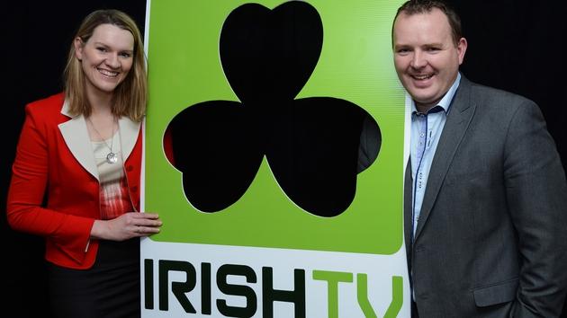 IrishTV's founders - Mairead Ní Mhaoilchiaráin (MD) and  Pierce O'Reilly (CEO)