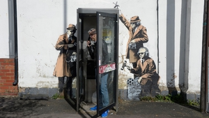 Celebrated Bristol street artist Banksy has yet to officially confirm the piece on his website