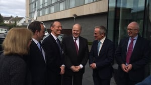 Ministers Michael Noonan and Richard Bruton attended today's announcement