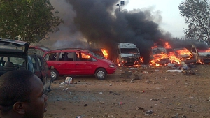 The cause of the explosions at the Nyanya Bus Park was not immediately clear