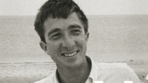 The young writer as he features on the cover of Adam Begley's new biography, Updike.