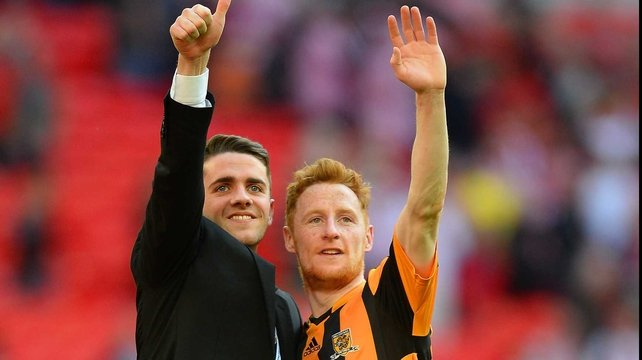 Stephen Quinn (r): 'I had some mixed emotions but I was really happy to score a goal at Wembley'