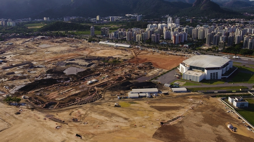 Preparations for the 2016 Olympics remain behind schedule