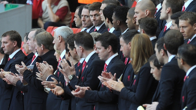 Current and former players and managers were at Anfield for the service
