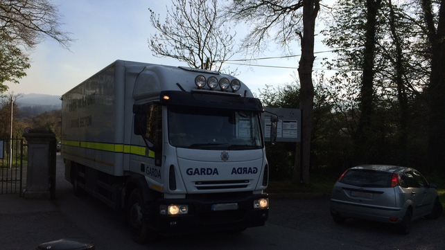 Gardaí were called to the scene at around 4pm