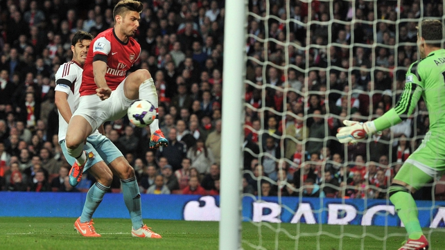 Olivier Giroud turned in a fine display against West Ham