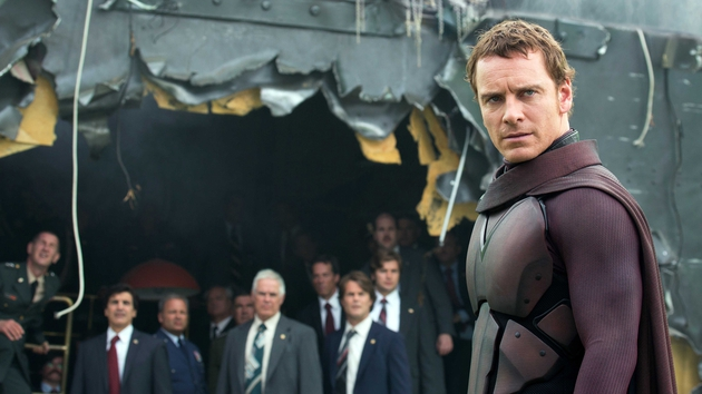 Fassbender is cat-like and dangerous as Magneto
