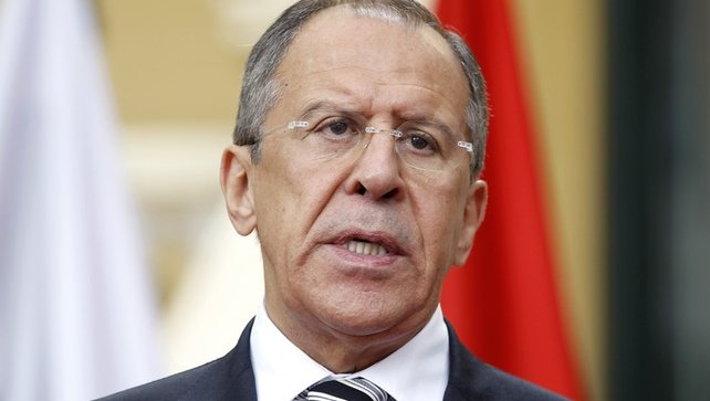 Mr Lavrov said that Ukraine is on the brink of civil war