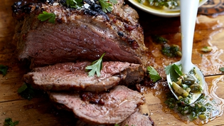 Norman's Butterflied Leg of Lamb with Lively Salsa