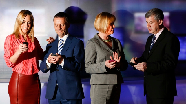 RTÉ presenters and broadcasters try out the new app
