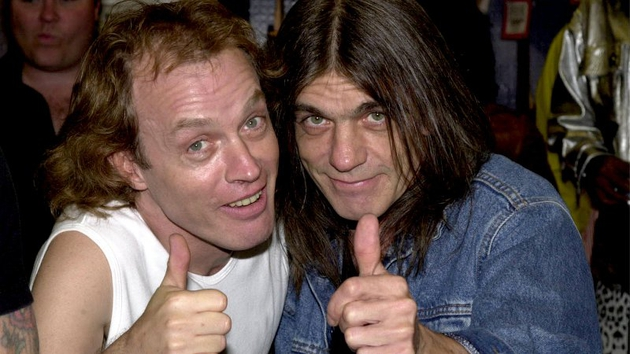 Angus and Malcolm Young pictured in 2000