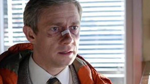 Martin Freeman as Lester Nygaard in Fargo