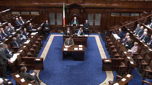 There were angry exchanges in the Dáil