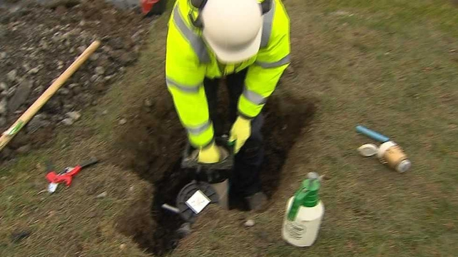 Workers have been installing water meters around the country