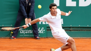 Pablo Andujar of Spain in action at the Monte-Carlo Rolex Masters tournament (Pic: EPA)