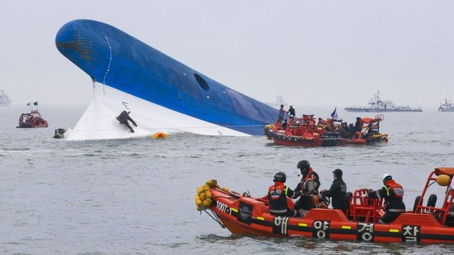 The Sewol ferry sank last week on a routine trip