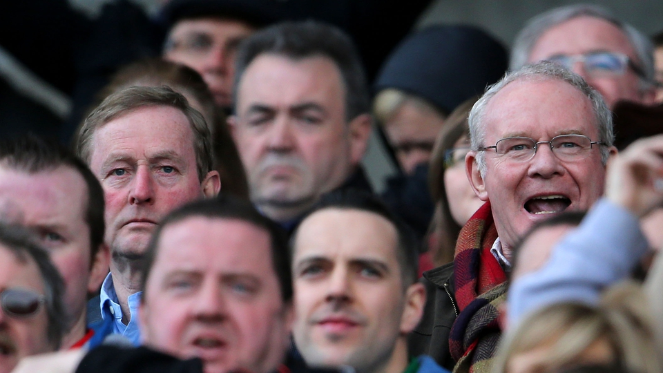 The contrasting moods of Enda Kenny and Martin McGuinness as Mayo fall to Derry at Croke Park