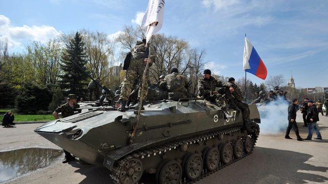 The Ukrainian government confirmed the six vehicles had been seized by separatists