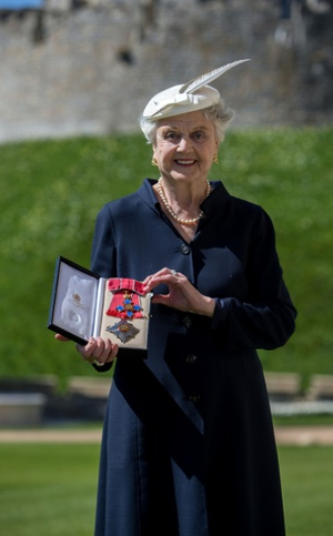 Legendary actress Angela Lansbury was officially made a Dame at Windsor Castle