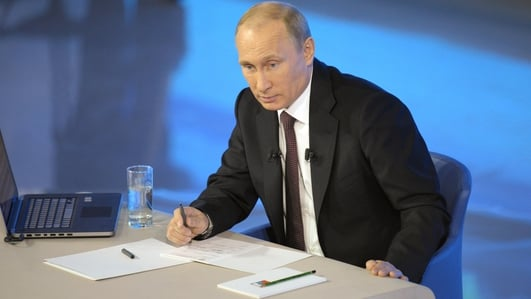 Vladamir Putin's TV phone 'call in' appearance