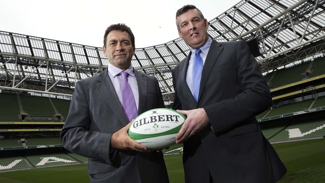David Nucifora (R) and IRFU CEO Philip Browne