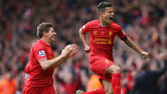 Philippe Coutinho's winning goal against City put Liverpool firmly in the driving seat for the title