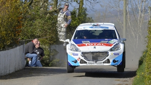Craig Breen in action during the 2014 Circuit of Ireland Rally