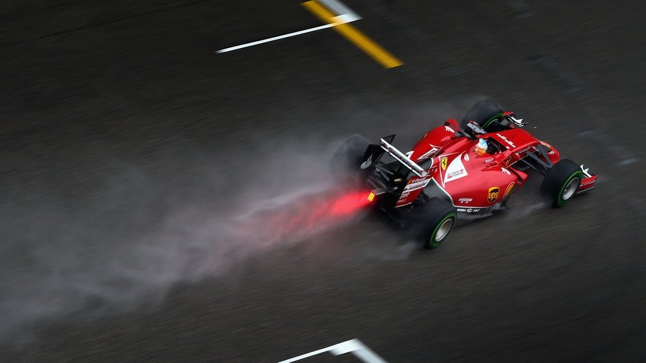 Ferrari's Fernando Alonso takes part in qualifying ahead of the Chinese Formula One Grand Prix