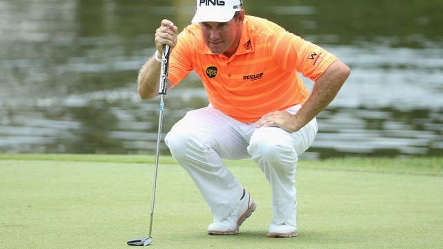 Lee Westwood's lead has dwindle to a single shot