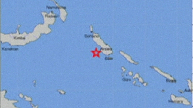 The 7.5-magnitude earthquake struck off the coast of Papua New Guinea at 11.30pm local time