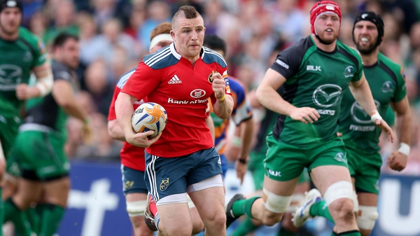 Munster's Andrew Conway scored the game's first try