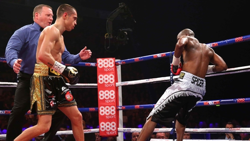 England's Scott Quigg wasted little time disposing of challenger Tshifhiwa Munyai