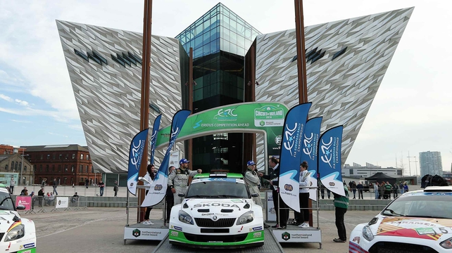 Esapekka Lappi outside the iconic Titanic museum in Belfast