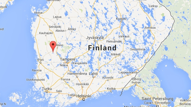The plane went down in Jamijarvi, western Finland (Pic: Google Maps)