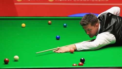 Ryan Day edged into the second round at the Crucible
