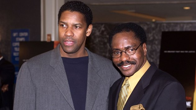 Denzel Washington and Rubin 'Hurricane' Carter at the UN for a special screening of The Hurricane on January 10, 1999