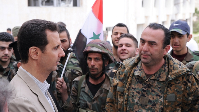 Bashar al-Assad visited ancient Christian town recaptured from rebels
