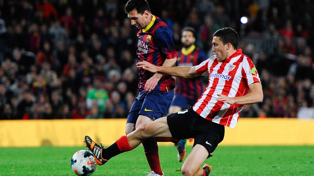 Lionel Messi scored the winner for Barcelona at Athletic Bilbao