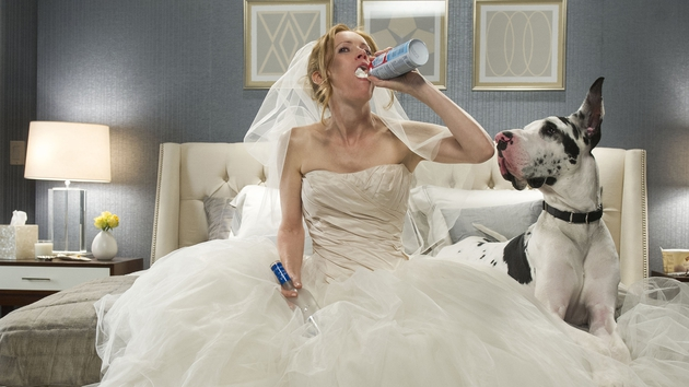 Not a good look for any bride!
