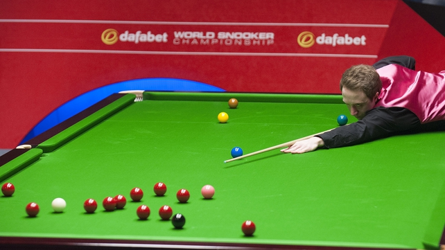 Michael Wasley during his match against Ding Junhui