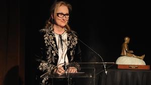 Meryl Streep accepts the Eugene O'Neill Theatre Centre's Monte Cristo Award
