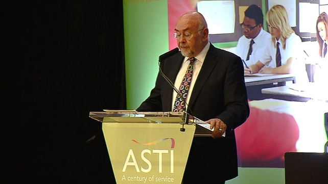 Ruairi Quinn was booed at the ASTI conference in Wexford