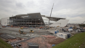 The stadium in Sao Paulo will be just about finished before the World Cup begins on 12 June (Pic: EPA)