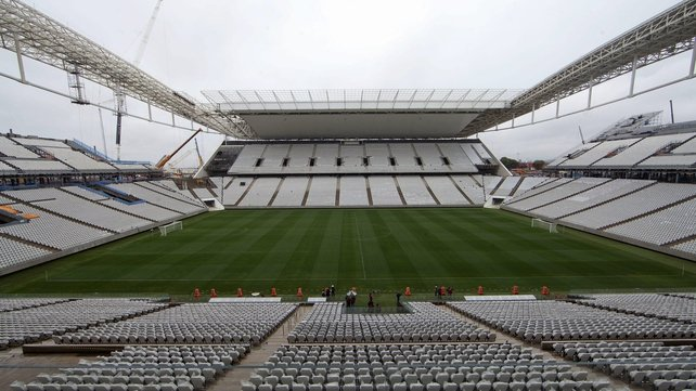 The stadium will host the opening game between Brazil and Croatia (Pic: EPA)