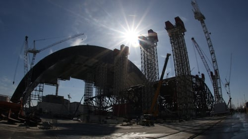 A planned arch will cover the site at Chernobyl