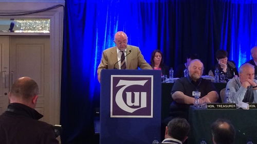 Minister Ruairi Quinn made the announcement at the TUI conference