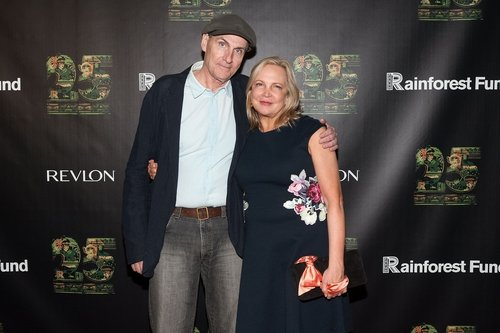 James Taylor and wife Caroline Smedvig