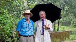 Mark Shand pictured with his brother-in-law Prince Charles at Vazhachal Forest Range in India in 2013